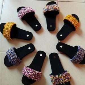 Shoes - Hand beaded slippers